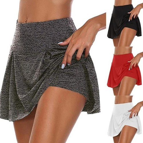 Tennis Skirts Sports Women's High Waist Pleated Short Dress Badminton Volleyball Running Cheering Beach Dance Safety Skorts