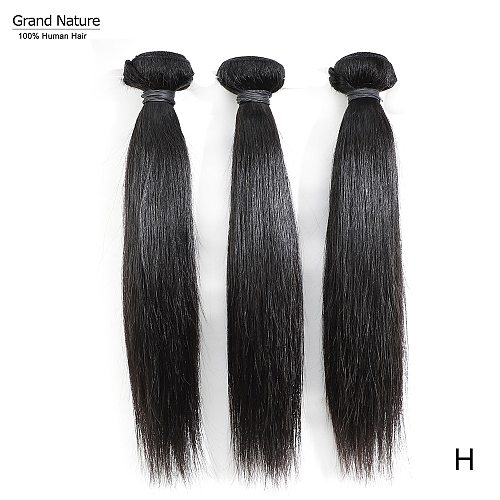 Grand Nature 10A Brazilian Virgin Hair Bundle Weaves Straight Human Hair 1piece Can Buy 3/4pcs one donor  bleach 613 high ratio