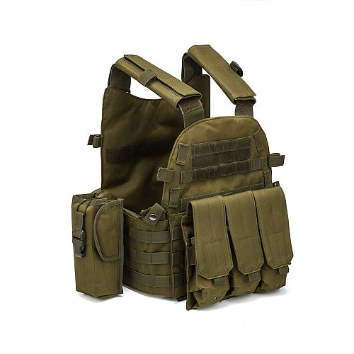 Men Military Tactical Vest Paintball Camouflage Molle Hunting Vest Assault Shooting Airsoft Vests Outdoor Clothes Accessories