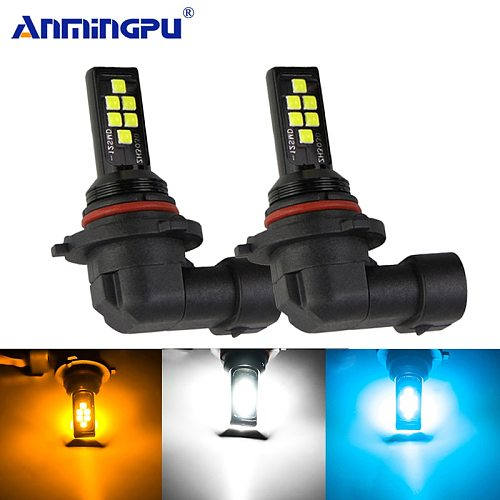 ANMINGPU 2x Car Fog Lamp 9005 HB3 9006 HB4 H7 Led Lamp Led H1 H3 Led H11 H9 H8 H27 880 881 Led Bulb Car Led Fog Light Bulb 12V