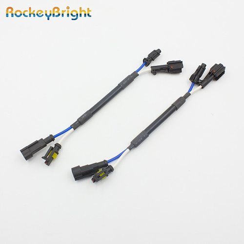 Rockeybright 2pcs CAR Small KET connector Cable HID xenon ballast AMP AUTO HID LIGHT AMP - Small KET Adaptors socket