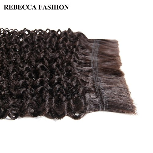 Rebecca 3 Bundles Human Braiding Hair Bulk Hair For Braiding Remy Indian Curly Hair Wave Bulk Extensions Free Shipping