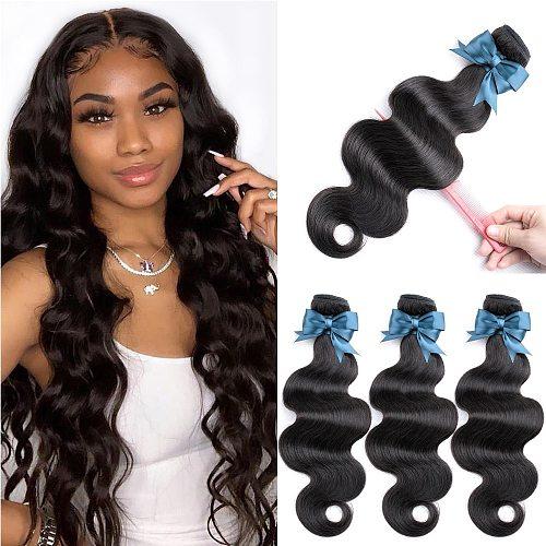 Beaudiva Hair 8-36inch Body Wave Bundles Brazilian Hair Weave Bundles 100% Human Hair Bundles Brazilian Body Wave Hair