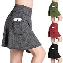 2020 Sports Tennis yoga Skorts Fitness Short Skirt Badminton breathable Quick drying Women Sport Anti Exposure Tennis Skirt
