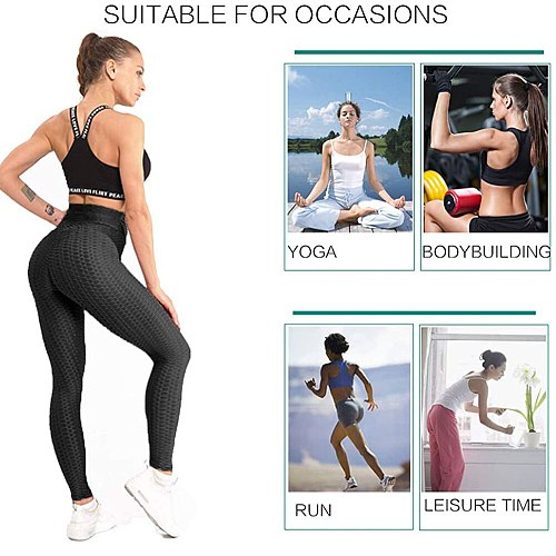 Butt Lifting Anti Cellulite Sexy Leggings for Women High Waisted Yoga Pants Workout Tummy Control Sport Tights