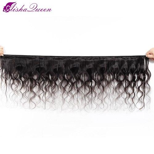 Aisha Queen Hair Brazilian Body Wave Hair Double Machine Weft 100% Non Remy Human Hair Weave Brazilian Hair
