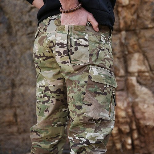 HAN WILD Streetwear Casual Camouflage Jogger Pants Tactical Military Trousers Men Cargo Pants for Dropshipping Combat Pants