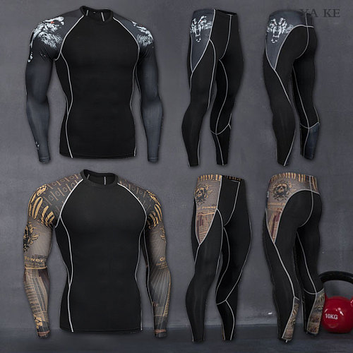 2018 New Compression Pants Sports Running Tights Men Jogging Leggings Fitness Gym Clothing Sport Leggings Men Trousers
