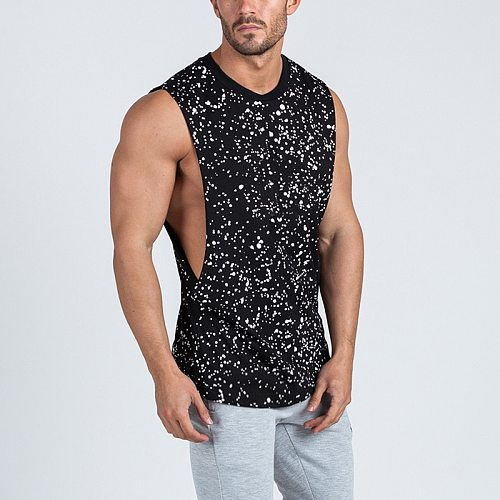 New Summer Running Vest Sport Gym Tank Tops Men Cotton Sport Sleeveless T Shirt Fitness Men Tanktop Bodybuilding Tanktop
