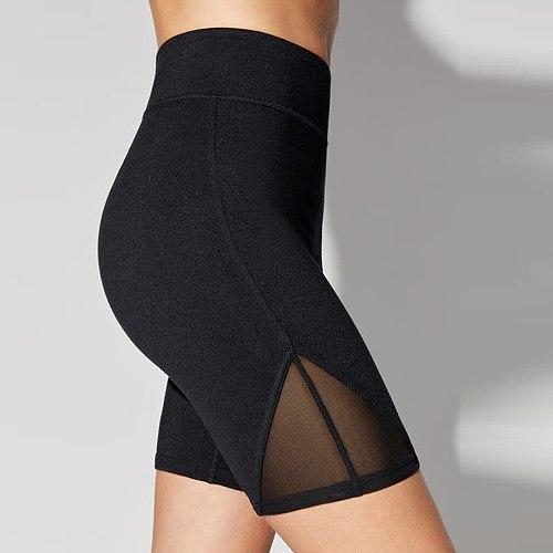 25# Womens High Waist Yoga Leggings Basic High Waisted Mesh Short Sport Pants Shorts Workout Short Feminino Skinny Women Shorts