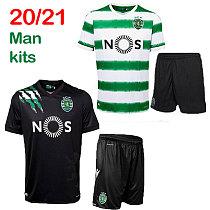 Men 20 21 Sporting CP camisa de futebol PHELLYPE 2020 2021 Sporting Lisbon VIETTO Football Shirt SPORAR JOVANE uniform