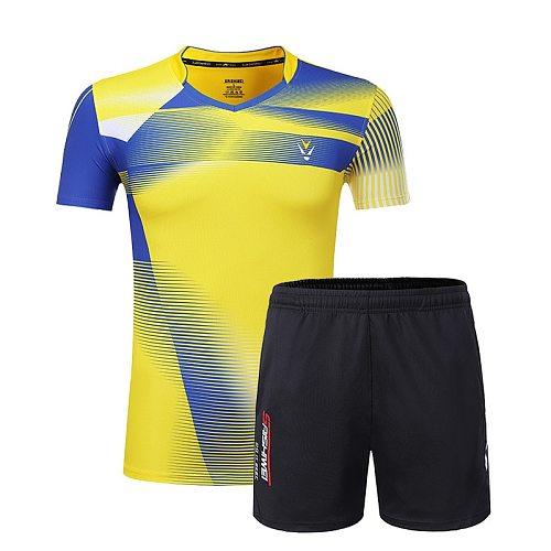 New Qucik dry Badminton sports shirts Women/Men , table tennis clothes, Tennis suit , badminton wear sets