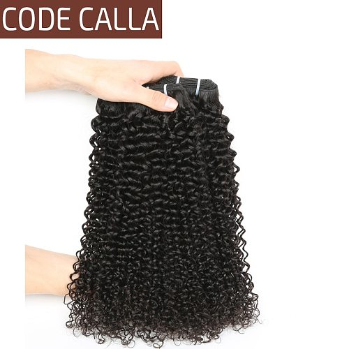 Malaysian Kinky Curly Raw Virgin Hair Bundles Code Calla Unprocessed Human Hair Extensions 1/3/4 Bundles Afro Curly Hair Weaving