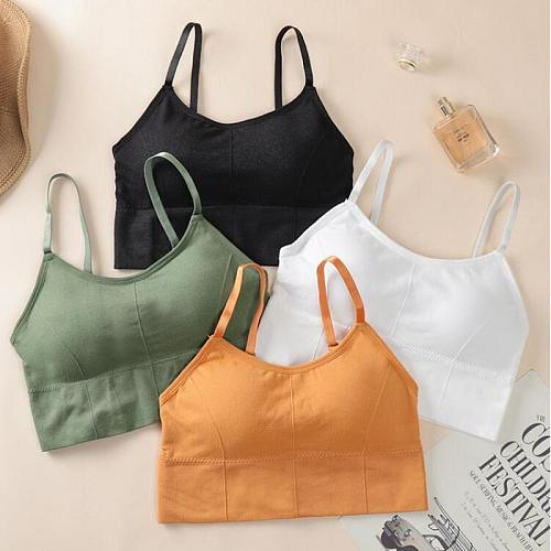 Yoga Bra adjustable strap Breathable Sports push up Bra Shockproof Padded Sports Yoga Top Athletic Gym Running Fitness vest bra