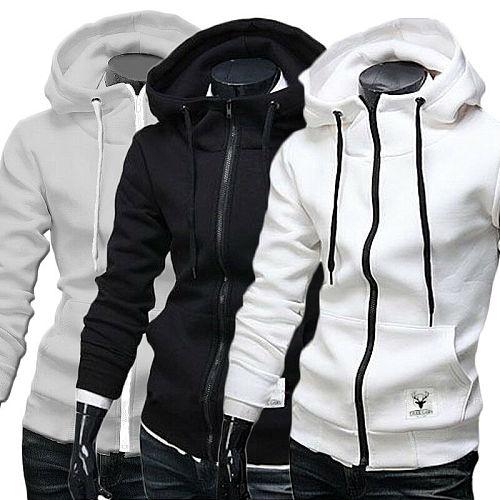 Fashion Men's Winter Slim Hoodie Warm Hooded Sweatshirt Coat Jacket Outwear Sweater Tops