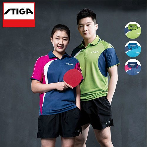 STIGA  Table Tennis Shirt ping pong Clothing Sport T-shirts For Men and women Jersey Table Tennis Shirts