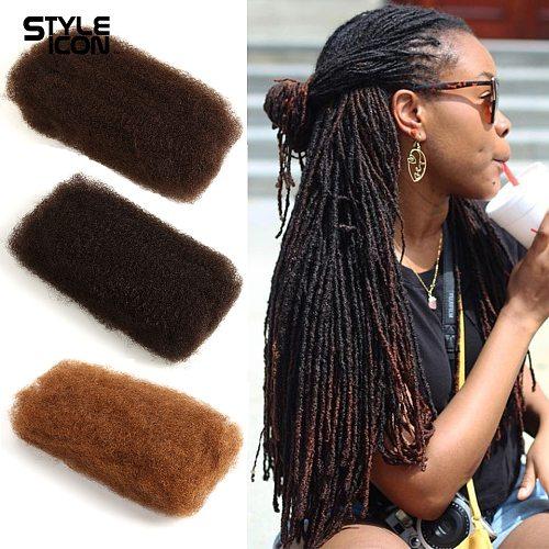 Styleicon Brazilian Afro Kinky Bulk 100% Human Hair For Braiding Remy Afro Kinky Bulk 50g/Pcs Kinky Curly Hair Crochet