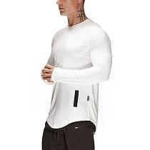 New Sport Shirt Men Long Sleeve Quick Dry Sport Top Solid Crossfit t shirt Gym Fitness Running Shirt Workout Jersey Rashgard Men