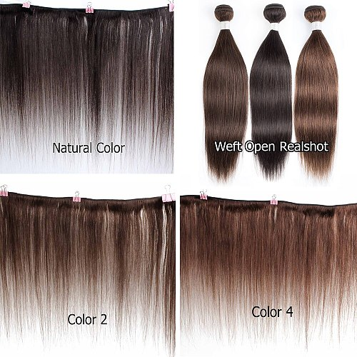 Bobbi Collection 1 Bundle Dark Brown 1B 27 Ombre Honey Blonde Indian Hair Weave Black Straight Remy Human Hair Weft Extension