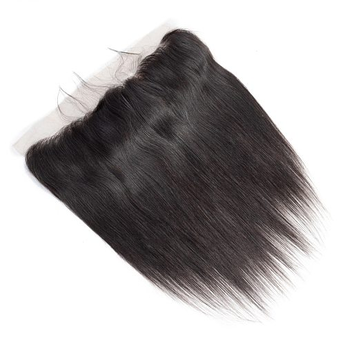 Magic Wave Straight 100% Human Hair 13x4 Lace Frontal Closure Pre Plucked With Baby Hair Brazilian Remy Hair Closure Extensions