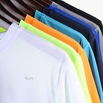 Multicolor Quick Dry Short Sleeve Sport T Shirt Gym Jerseys Fitness Shirt Trainer Running T-Shirt Men's Breathable Sportswear