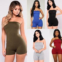 2020 Women Jumpsuit Tie Dyeing Bodycon Strapless Casual Club Party Romper Overalls Femme Summer Fashion Tracksuit Sexy Clothes