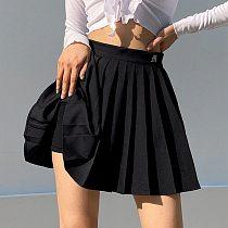 Muyogrt Women High Waist Pleated Skirt Sweet Cute Girls Dance Mini Skirt Cosplay Black White Skirt Female Mini Skirts Short