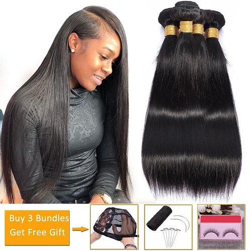 Wholesale Straight Hair Bundles Cheap Human Hair Bundles Deals Non-Remy Hair Extensions Peruvian Brazilian Hair Weave Bundles