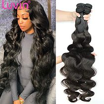 Luvin 28 30 32 40 Inch Brazilian Body Wave raw Human Hair Bundles Remy Hair water wave bundles Weaves Deals Products  Wholesale