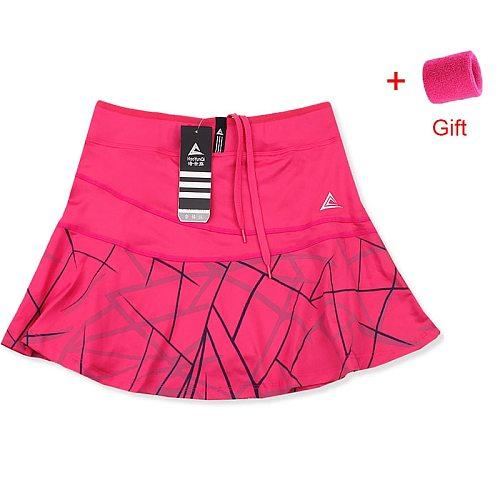 Women's Sports Tennis Skort Short Girls Badminton Skirt with Safety Shorts Striped Tennis Workout Gym Skirt Built-in Pocket