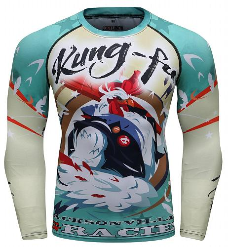 Cody Lundin Men's Digital Printing Dry Fit Sun Protection Long Sleeve Compression Shirts Workout Running Shirts