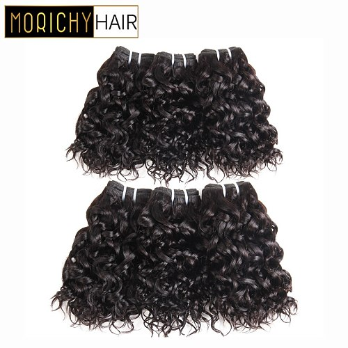 Morichy Brazilian Water Wave Bundles 50g/pcs Short-cut Weft Double Drawn Remy Hair extensions