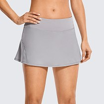SYROKAN GA Women's Athletic Tennis Golf Skirts Pleated Shorts Sport Skort with Pocket