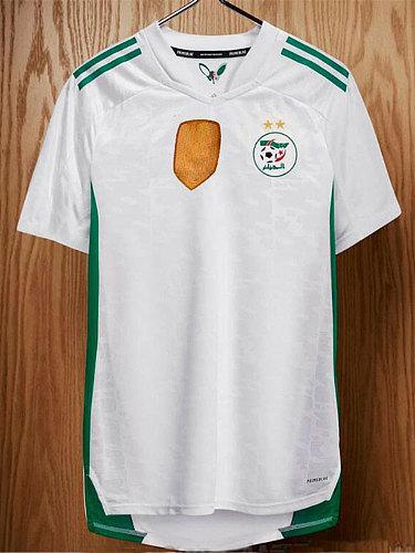 Algeria Maillot de football  2020 2021 FEGHOULI SLIMANI BRAHIMI Home white BENNACER Algeria Shirt