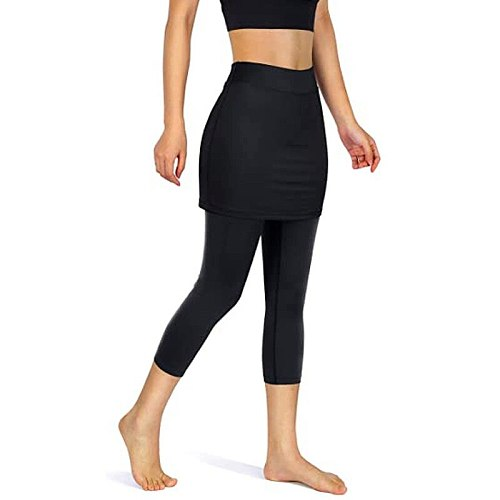 Womens Tennis Skorts Sport GYM Fake Two Pieces Compression Running Pants Quick Dry Fitness Pants Skirt Badminton Tennis