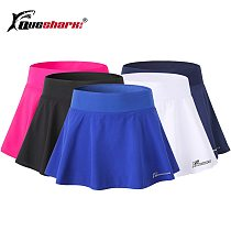 Queshark Pro Women Sports Anti Exposure Tennis Badminton Skirt Shorts Quick Dry Fitness Running Yoga High Waist Elastic  Shorts