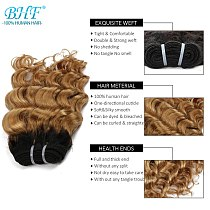 BHF Brazilian Hair Deep Wave Curly 100% Natural Human Hair Bundles 50g Remy Funmi weft Can Make a Wig