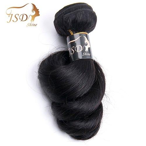 JSDShine Brazilian Hair Weave Loose Wave Bundles Natural Black 1/3/4pcs/Lot 100% Human Hair Bundles Remy Hair Extensions