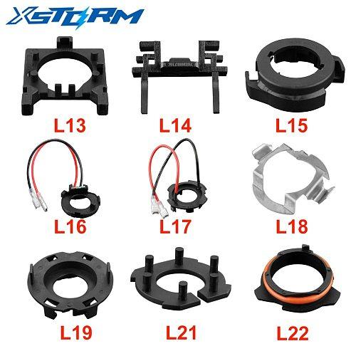 2Pcs H7 LED Headlight Adapter H1 H7 Bulb Holder Car Socket Base
