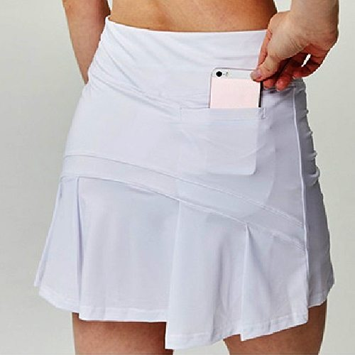 S-XXXL Women Tennis Skirts Badminton Golf Pleated Skirt High Waist Fitness Shorts with Phone Pocket Girl Athletic Sport Skorts