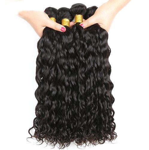 Missanna  32 34 36 38 40Inch Water Wave Bundles Brazilian Hair Weave Bundles 1/3/4 Pcs Thick Natural Remy Human Hair Extensions