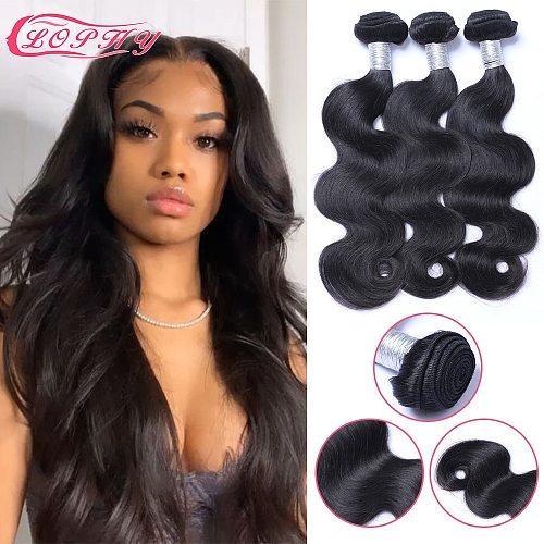 Brazilian Body Wave Bundles Human Hair Weaves 100% Human Hair Bundles Non-Remy Natural Color Hair Extensions For Black Women