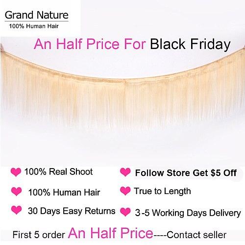 613 blonde Brazilian Hair Weave Bundles 100% straight human hair one bundle can buy 3or 4pcs 613 bundle Middle Ratio Remy
