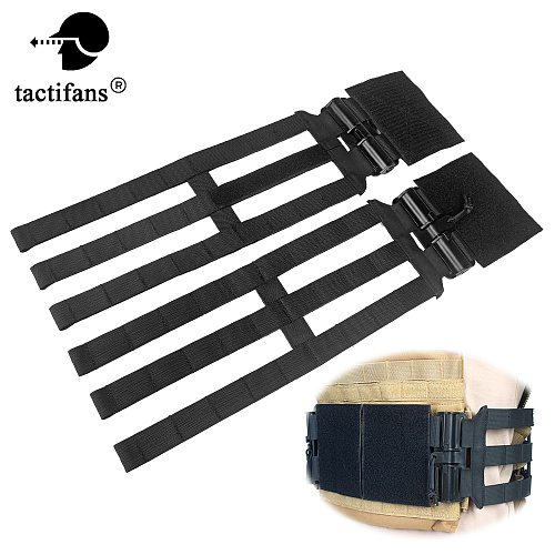 Tactical Skeletal Cummerbund With Quick Release Buckle Set Kit 3 Band For JPC 420 419 XPC Hunting Vest Airsoft Accessories Nylon