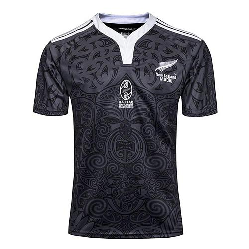 MenT Shirt Printing Ribbed Collar With Elastic Cuffs Fitness T-shirts New Zealand 100 Anniversary Commemorative Rugby Sportswear