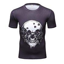 Men Compression Short Sleeve Tshirt Summer Bodybuilding Fitness Sportswear Men Sport Top Running Tight Tee Ropa Deportiva Hombre