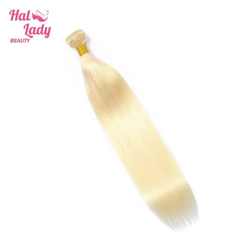 Halo Lady Beauty  613 Color Blonde Brazilian Virgin Hair Extensions Straight Human Hair Weaves 34 36 38 40 42 44 46 48 50 Inches