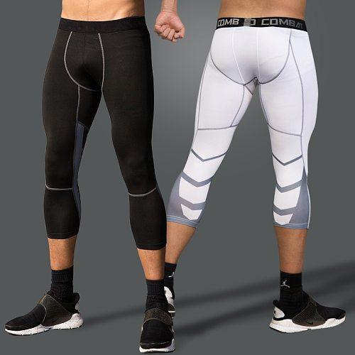Compression Pants Mens Leggings Men Sport Fitness Sports Tights Man Running Pants Compression Men 3/4 Pants