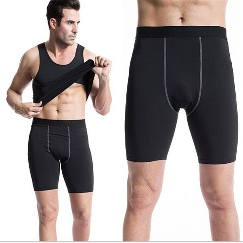 #1004 Men Boys High Elasticity Sport Running Gym Fitness Athletic Skins Tights Sweat Wicking Quick Dry Shorts  7Colors S-3XL