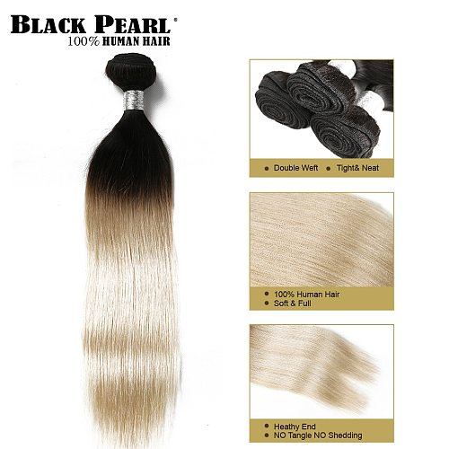 Black Pearl Pre-Colored Ombre Brazilian Hair Weave Bundles Ombre Straight Hair Weft 1 bundles Human Hair Extensions T1b613
